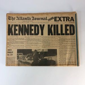Vintage Kennedy Killed Shot November 22, 1963